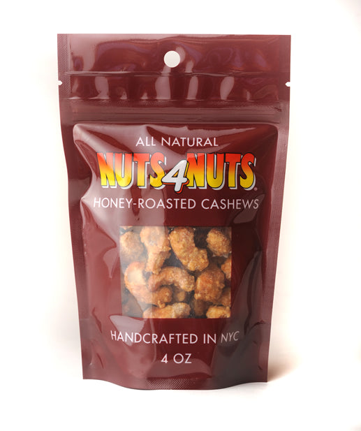 Honey-Roasted Cashews in 4oz Resealable Pack