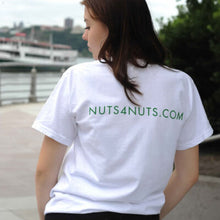 Load image into Gallery viewer, Nuts 4 The Earth White T-Sleeve 100% Cotton
