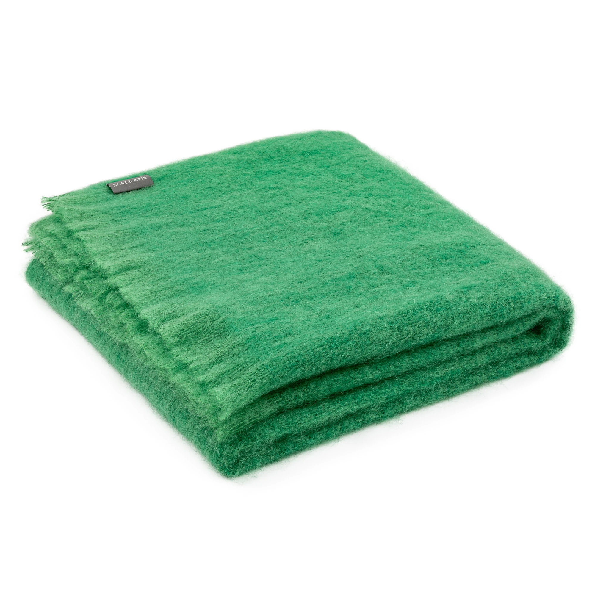 ST ALBANS Mohair Throw - Holly