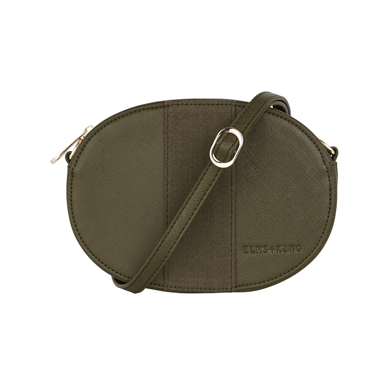 Elms & King Lexington Crossbody - Khaki Saffiano