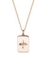 Load image into Gallery viewer, MURKANI Desert Flower Rectangle Hanging Necklace in Rose Gold