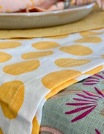 Load image into Gallery viewer, Bright Threads Yellow Polka Dot Table Runner