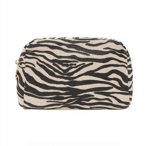 Elms & King Large Cosmetic Bag - Black Zebra
