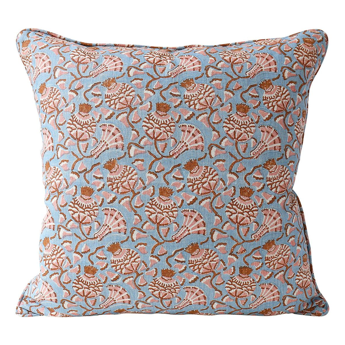 WALTER G Iznik Winter Bloom Linen Cushion