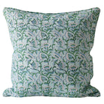 Load image into Gallery viewer, WALTER G Marbella Emerald Linen Cushion