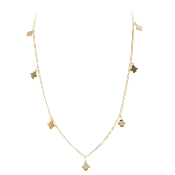 FAIRLEY - Clover Charm Necklace Gold
