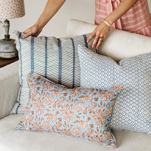 WALTER G Uluwatu Winter Bloom Linen Cushion
