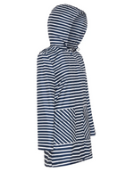 Load image into Gallery viewer, PAQME Recycled Anyday Raincoat - Navy Stripe