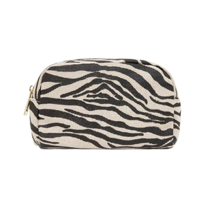 Elms & King Small Cosmetic Bag - Black Zebra