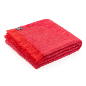 ST ALBANS  Mohair Throw - Pomegranate