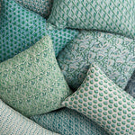 Load image into Gallery viewer, WALTER G Praiano Emerald Linen Cushion