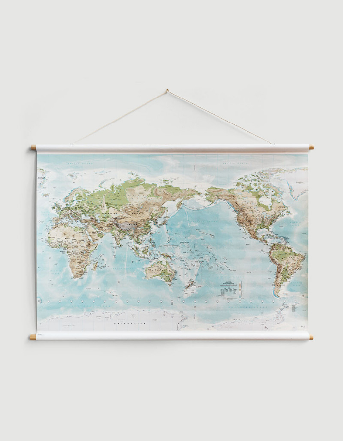 Telegram World Map - Large 175x120cm