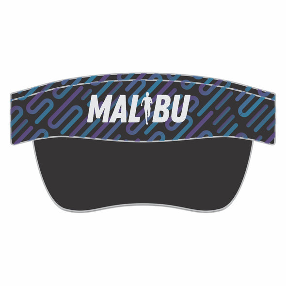 'Malibu' Visor - Tech Elastic Band - Blue / Purple