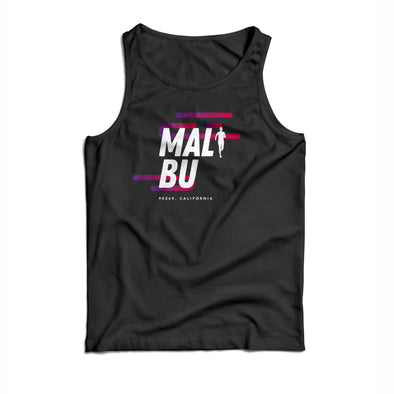 'Malibu' Men's Rayon Blend Muscle Tank - Black
