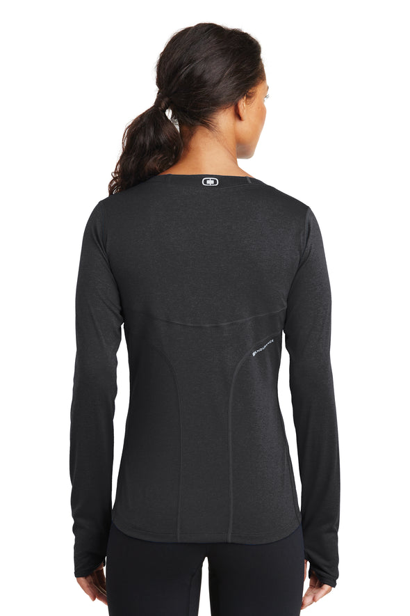LCP Logo Women's Tech LS Thumbhole Tee - Blacktop