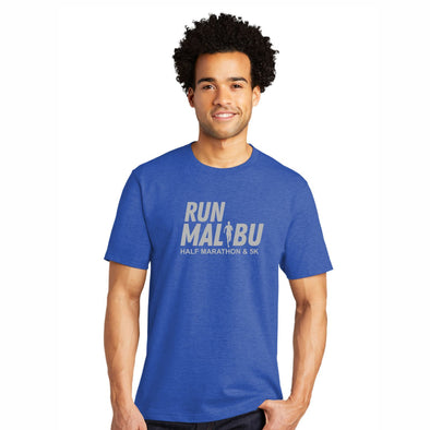 Run Malibu Men's Ringspun SS Tee - Heathered Royal