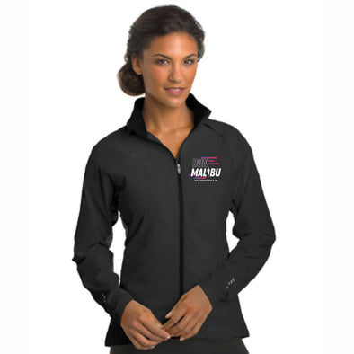 'Finisher 2021' Women's Reflective Zip Water-Resistant Shell - Blacktop