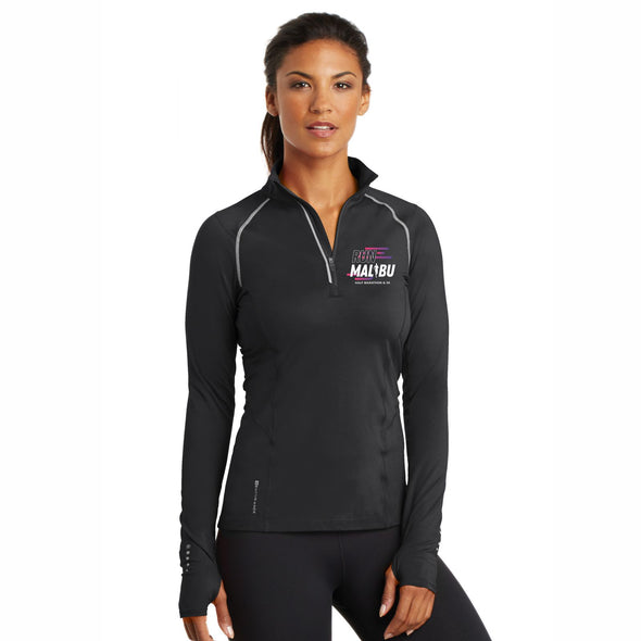 'Left Chest Print' Women's Tech OGIO 1/4 Zip - Blacktop