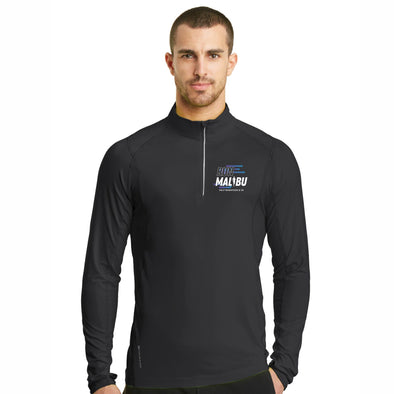 'Left Chest Print' Men's Tech OGIO 1/4 Zip - Blacktop