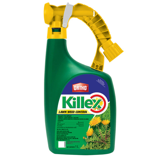 ATTACH AND SPRAY KILLEX LAWN WEED CONTROL
