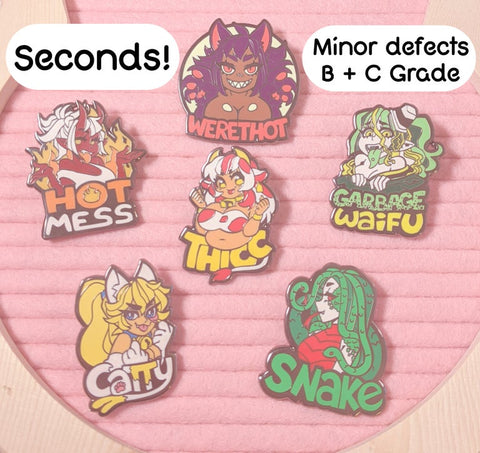 B + C Grade Monster Lover Pins