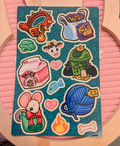 Monster Lover Sticker Sheet