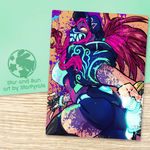 K/DA Akali Blacklight Prints