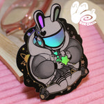 Bunny Astronaut Holographic Sticker