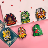 Monster Lover Pins