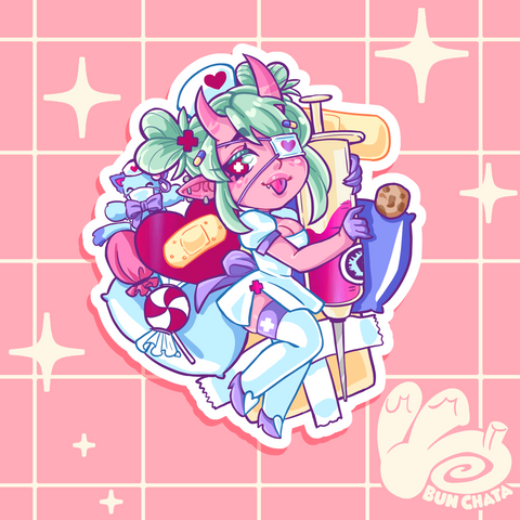 BunChata Menhera Nurse Sticker