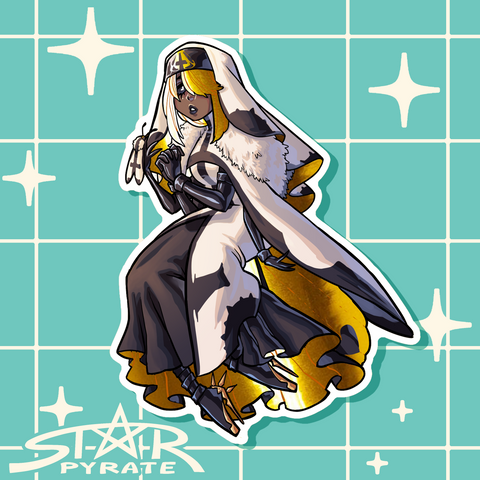 StarPyrate Moth Sticker