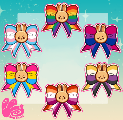 !! RETIRED !! Pride Bunny Stickers