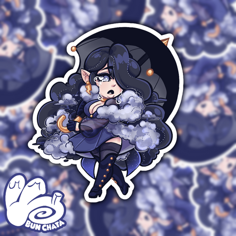 Raincloud Gorl Sticker