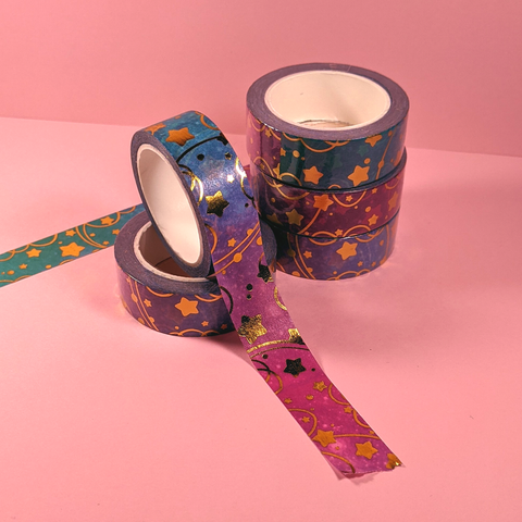 Gold Foil Star Washi Tape