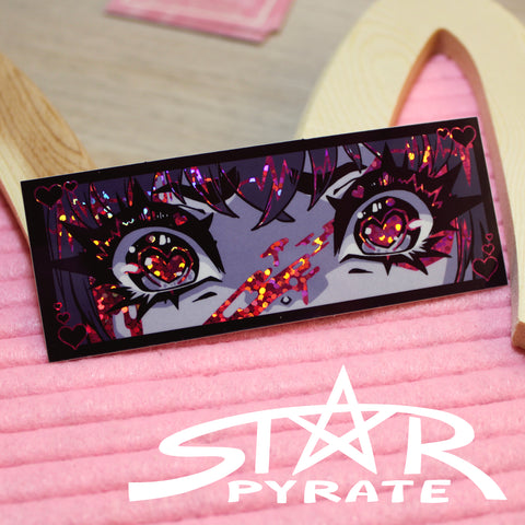 Yandere Eyes Holographic Sticker