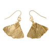Ginkgo Leaf Earrings- Gold