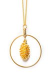 Cone Hoop Necklace- Gold