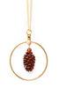 Cone Hoop Necklace- Iridescent Copper