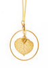 Aspen Leaf Hoop Necklace- Gold
