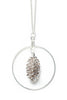 Cone Hoop Necklace- Silver