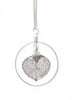 Aspen Leaf Hoop Necklace- Silver
