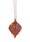 Birch Leaf Necklace- Iridescent Copper
