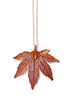 Japanese Maple Leaf Necklace- Iridescent Copper