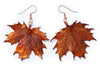 Sugar Maple Leaf Earrings- Iridescent Copper
