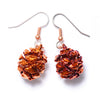 Redwood Cone Earrings- Iridescent Copper