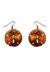 Sand Dollar Earrings- Iridescent Copper