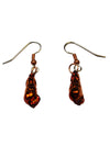 Spiral Seashell Earrings- Iridescent Copper