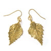 Birch Leaf Earrings- Gold