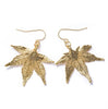 Japanese Maple Leaf Earrings- Gold