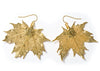 Sugar Maple Leaf Earrings- Gold